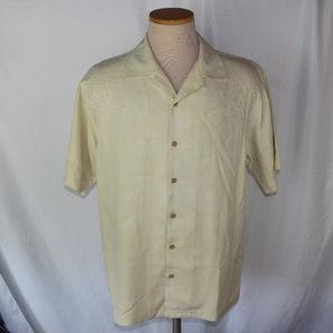 Tommy Bahama 100% Silk Short Sleeve Floral Shirt